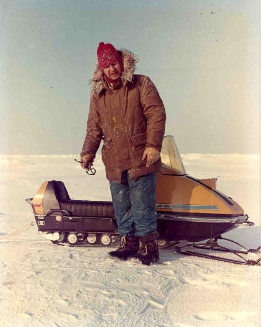 "AIDJEX 1972 Pilot Study: Steve Ackley after rescue from snowmobile accident. Image Credit:  National Snow &amp; Ice Data Center <a href=""http://nsidc.org/data/aidjex/"">AIDJEX Web site</a> (<a href=""/cryosphere/gallery/photo/33471"">View photo detail.</a>) <br>"