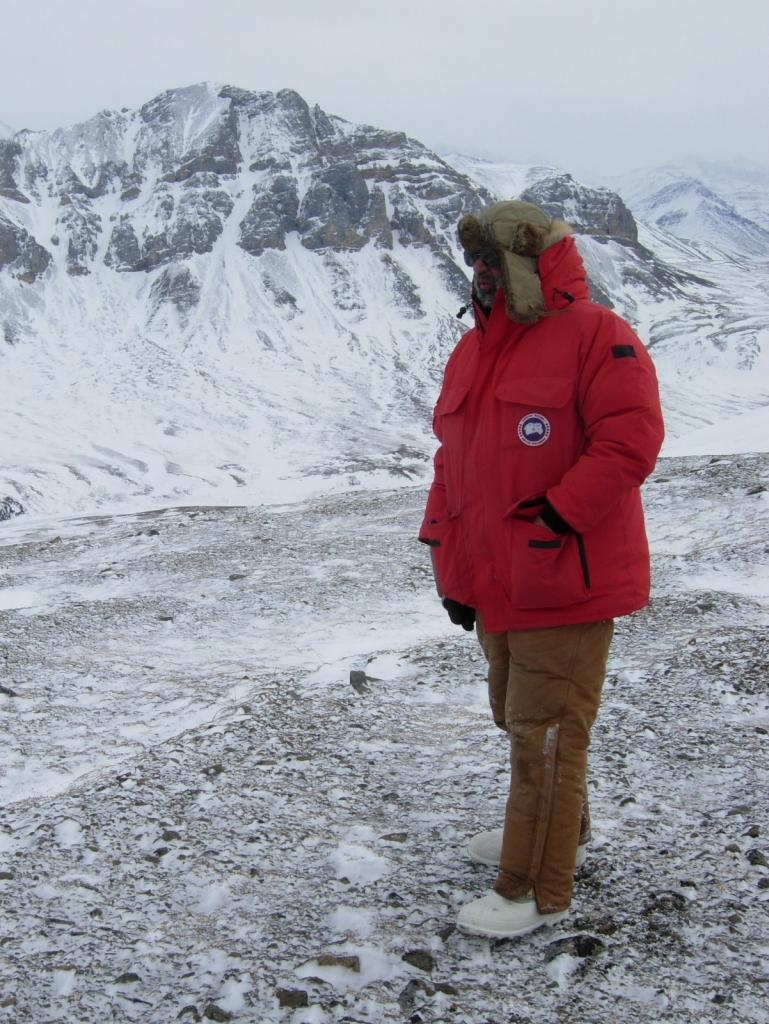 "MC Serreze stands atop Atigun Gorge. Image courtesy Mark Serreze, NSIDC. (<a href=""/cryosphere/gallery/photo/33630"">View photo detail.</a>) <br>"
