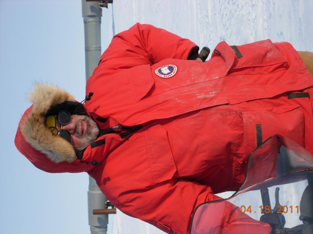 "Mark Serreze poses on the Arctic tundra, during the 2011 Arctic Observing Network (Snownet) project (<a href=""/cryosphere/gallery/photo/33980"">View photo detail.</a>) <br>"