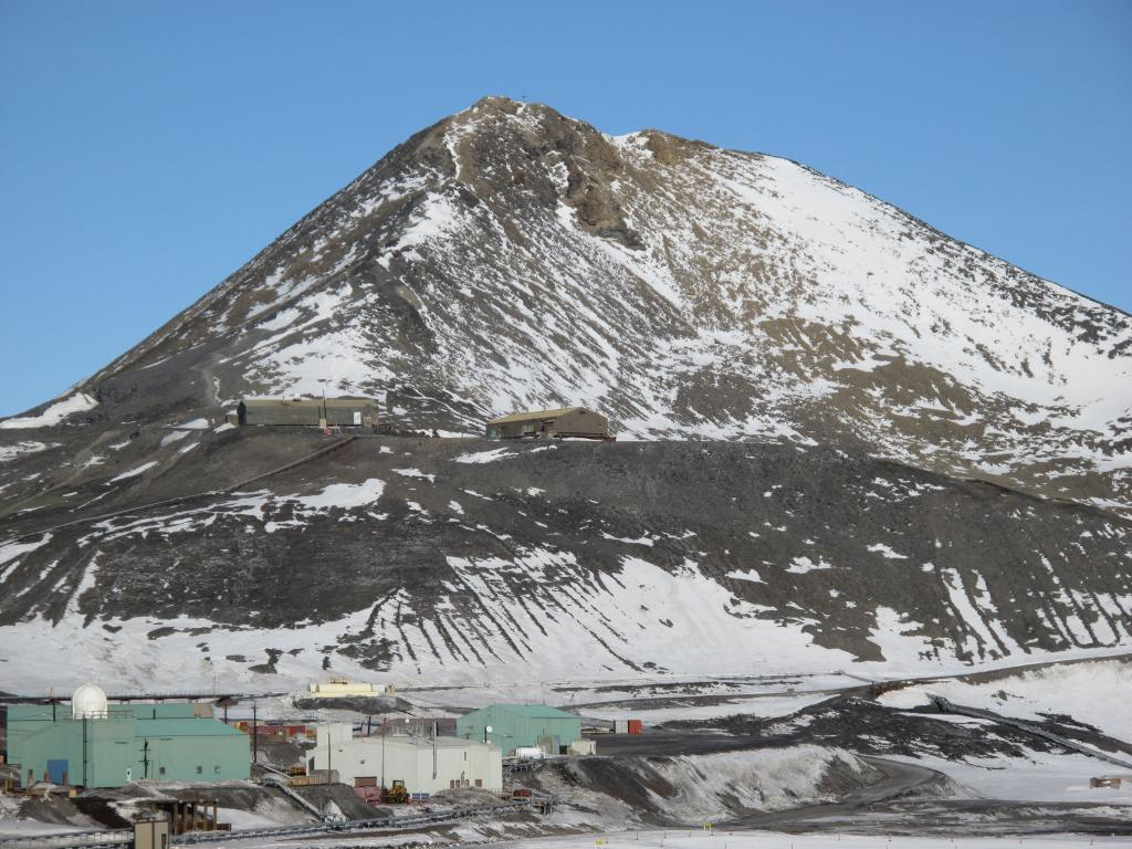 "McMurdo Station is located on the southern tip of Ross Island, on McMurdo Sound in Antarctica. Image Credit:  Ted Scambos, NSIDC (<a href=""/cryosphere/gallery/photo/33747"">View photo detail.</a>) <br>"