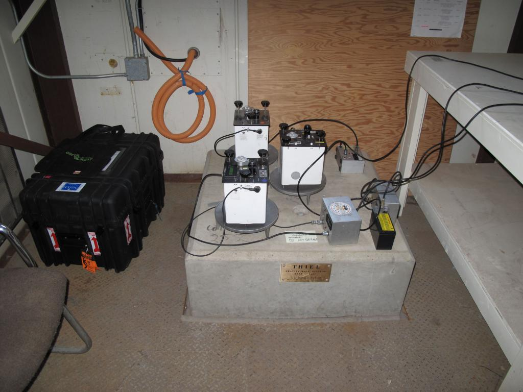 "Calibrating scientific instruments in preparation for the US-Norway Traverse (<a href=""/cryosphere/gallery/photo/33751"">View photo detail.</a>) <br>"