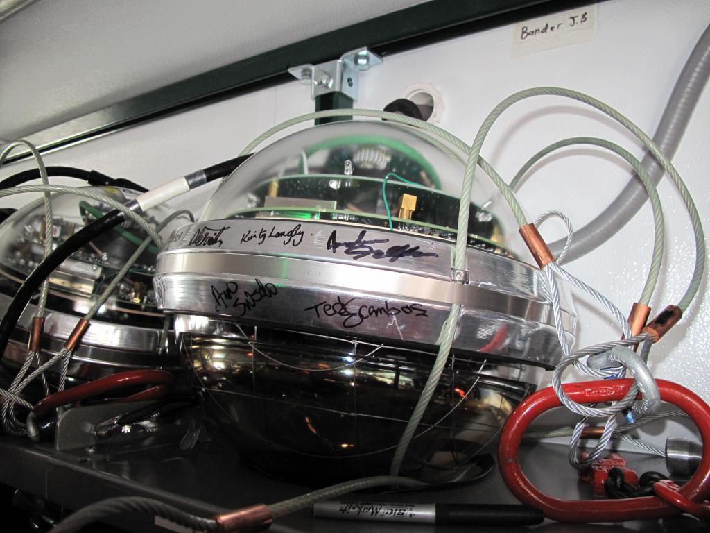 "Researchers will use these sensors to measure gravity at the South Pole. Image Credit:  Ted Scambos, NSIDC (<a href=""/cryosphere/gallery/photo/33779"">View photo detail.</a>) <br>"