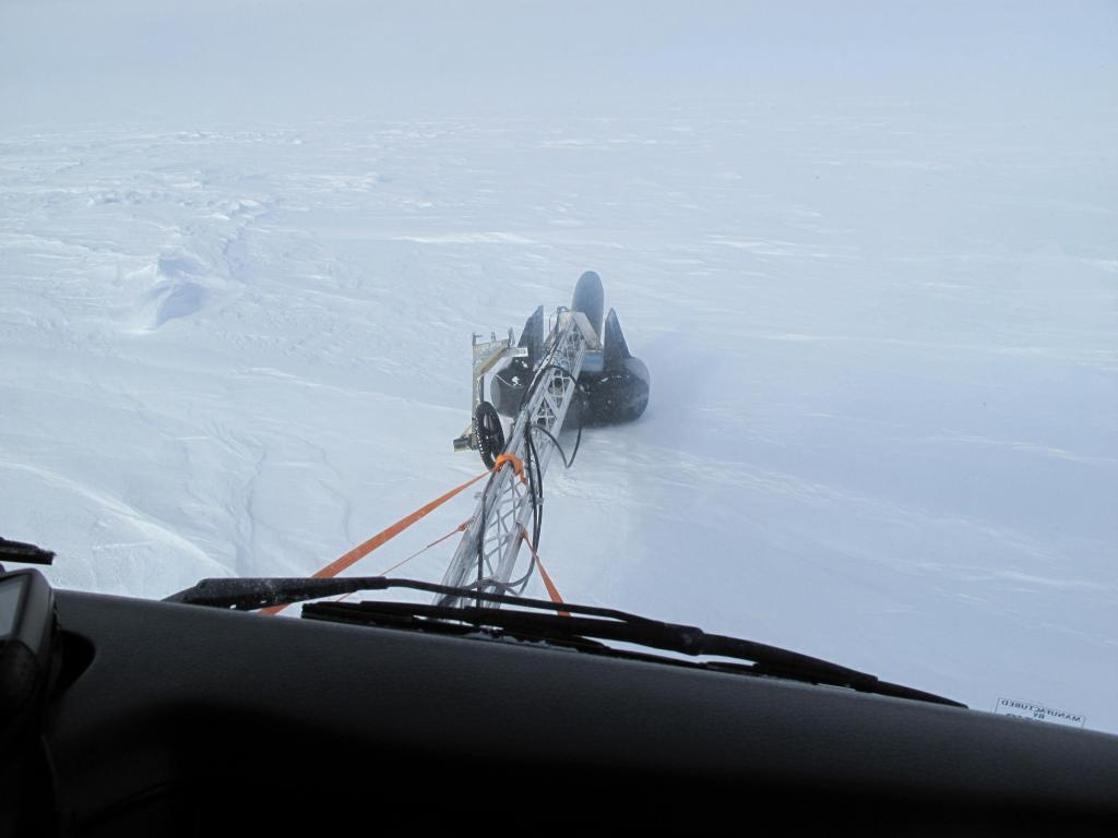 "This radar was used for locating crevasses in the ice sheet. Image Credit:  Ted Scambos, NSIDC (<a href=""/cryosphere/gallery/photo/33809"">View photo detail.</a>) <br>"