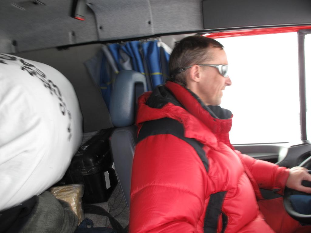 "Driving across the Antarctic Ice Sheet was a slow and sometimes boring job. Image Credit:  Ted Scambos, NSIDC (<a href=""/cryosphere/gallery/photo/33811"">View photo detail.</a>) <br>"