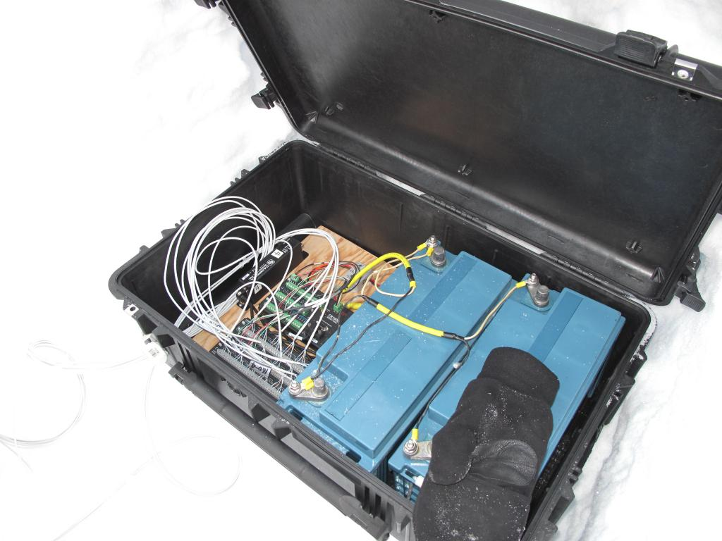 "This equipment was used during the traverse.  Image Credit:  Ted Scambos, NSIDC (<a href=""/cryosphere/gallery/photo/33840"">View photo detail.</a>) <br>"
