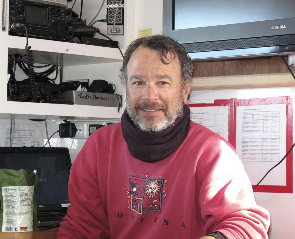 "Ted Scambos grew a beard during the Norwegian-U.S. Scientific Traverse of East Antarctica. Image Credit:  Ted Scambos, NSIDC (<a href=""/cryosphere/gallery/photo/33846"">View photo detail.</a>) <br>"