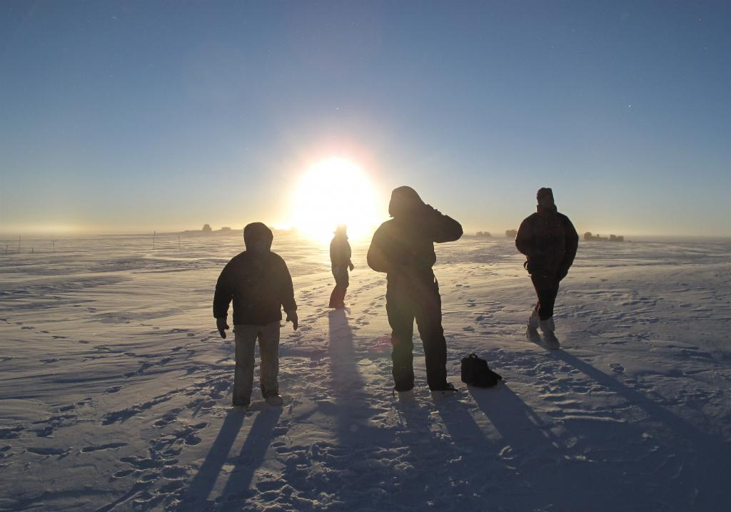 "Researchers enjoyed a rare moment of fresh air on the East Antarctic Ice Sheet. Image Credit:  Ted Scambos, NSIDC (<a href=""/cryosphere/gallery/photo/33850"">View photo detail.</a>) <br>"