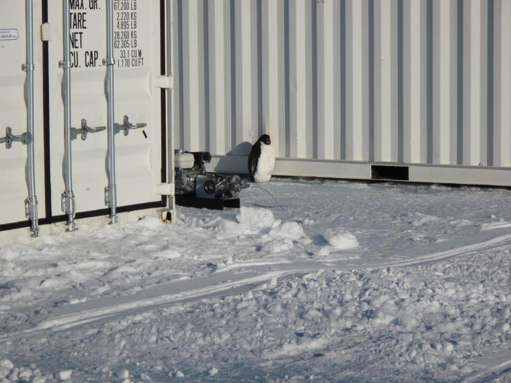 "Troll Station in Antarctica was the end of the traverse. Image Credit:  Ted Scambos, NSIDC (<a href=""/cryosphere/gallery/photo/33882"">View photo detail.</a>) <br>"