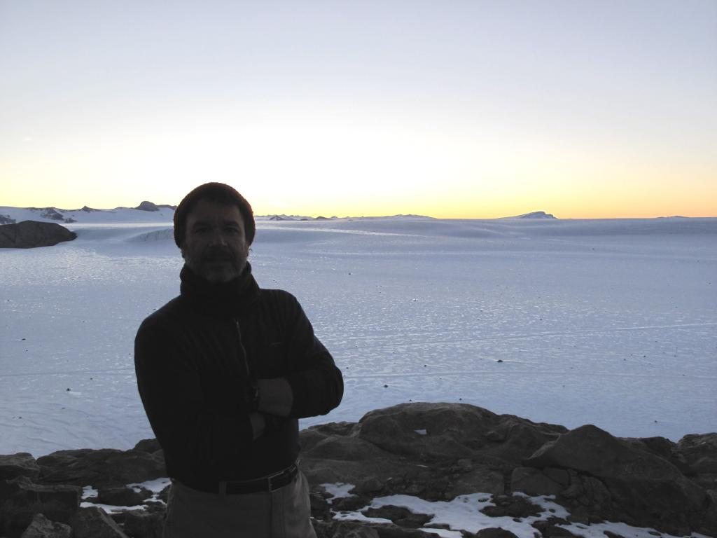 "Ted Scambos smiles after a successful field season in Antarctica. Image Credit:  Ted Scambos, NSIDC (<a href=""/cryosphere/gallery/photo/33899"">View photo detail.</a>) <br>"