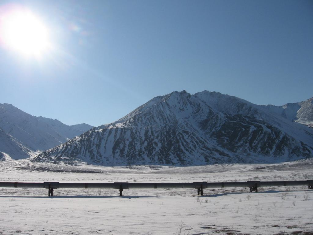 "This view shows the SnowNet project research area in 2009. Image courtesy Andrew Slater, NSIDC. (<a href=""/cryosphere/gallery/photo/33643"">View photo detail.</a>) <br>"