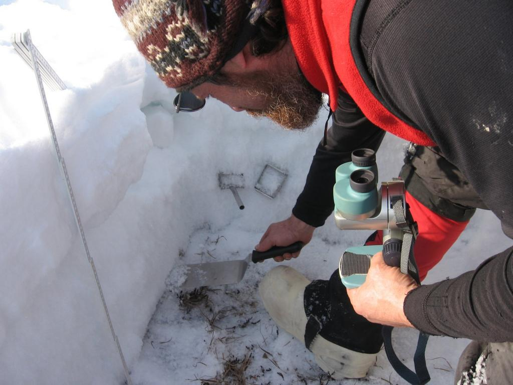 "Matthew Sturm can dig, analyze and book a snow pit in record time. Image courtesy  Andrew Slater, NSIDC. (<a href=""/cryosphere/gallery/photo/33676"">View photo detail.</a>) <br>"
