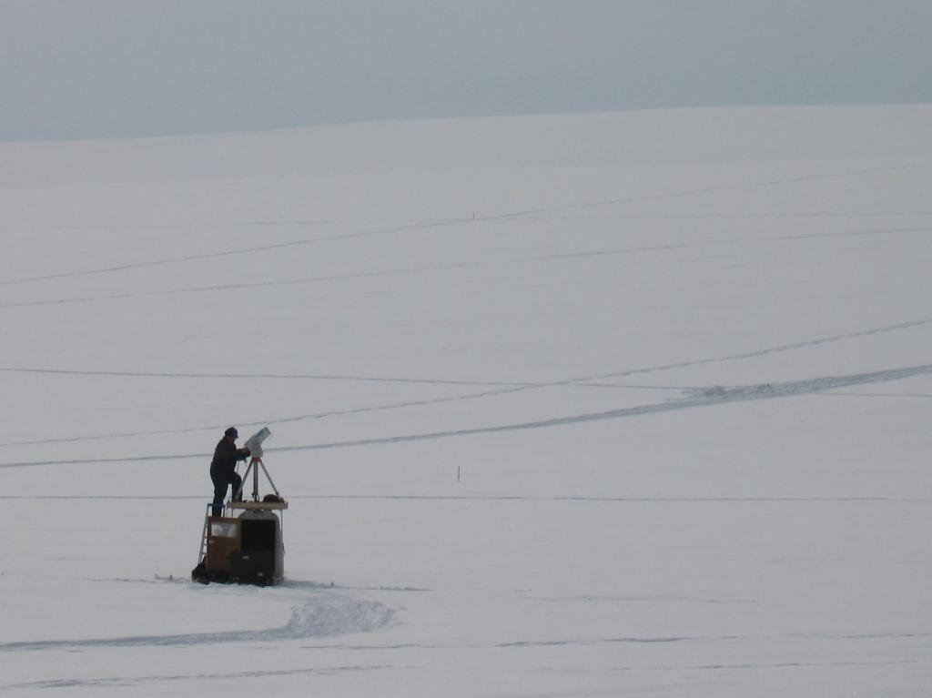 "Art Gelvin works on equipment during the 2009 SnowNet project. Image courtesy  Andrew Slater, NSIDC. (<a href=""/cryosphere/gallery/photo/33683"">View photo detail.</a>) <br>"