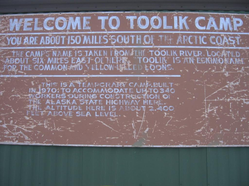 "Toolik Camp sign. Image courtesy  Andrew Slater, NSIDC. (<a href=""/cryosphere/gallery/photo/33688"">View photo detail.</a>) <br>"