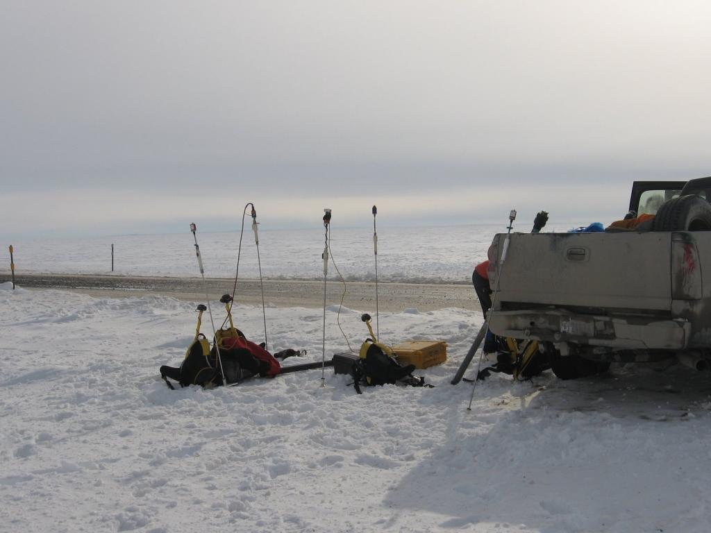 "Magna-probe equipment awaits use during the 2009 SnowNet project. Image courtesy Andrew Slater, NSIDC. (<a href=""/cryosphere/gallery/photo/33714"">View photo detail.</a>) <br>"