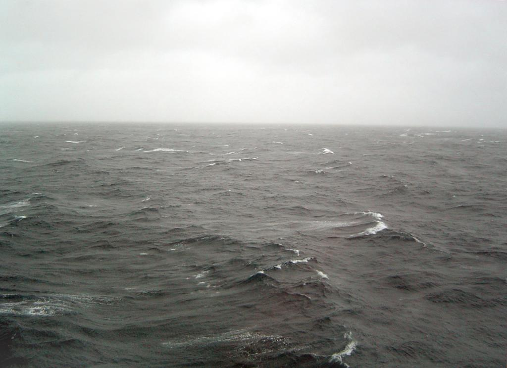 "A view of the stormy Ross Sea. Photo Credit: Courtesy Ted Scambos, NSIDC (<a href=""/cryosphere/gallery/photo/33196"">View photo detail.</a>) <br>"