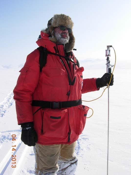 "NSIDC Director Mark Serreze poses on the Arctic tundra, during the 2013 Arctic Observing Network (Snownet) project. (<a href=""/cryosphere/gallery/photo/34115"">View photo detail.</a>) <br>"