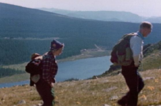 "Film still from <a href=""http://nsidc.org/data/g02175.html"">""Good Days on the Trail, 1938-1942: Film Footage of the Rocky Mountains, Colorado.""</a> (<a href=""/cryosphere/gallery/photo/33419"">View photo detail.</a>) <br>"