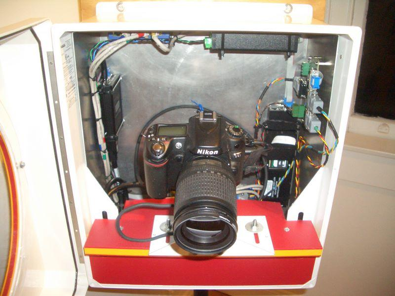 "A close up view shows the automated camera that sits inside the AMIGOS stations (<a href=""/cryosphere/gallery/photo/33944"">View photo detail.</a>) <br>"