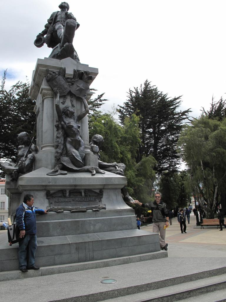"It is considered good luck to rub the toe of this statue in Punta Arenas, prior to setting off for Antarctica (<a href=""/cryosphere/gallery/photo/33943"">View photo detail.</a>) <br>"