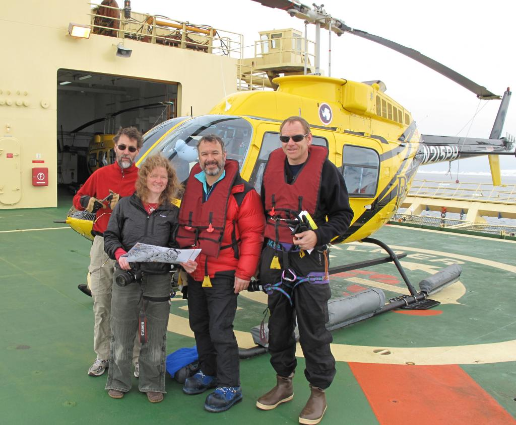 "LARISSA researchers prepare to take off for a trip to the peninsula (<a href=""/cryosphere/gallery/photo/33941"">View photo detail.</a>) <br>"