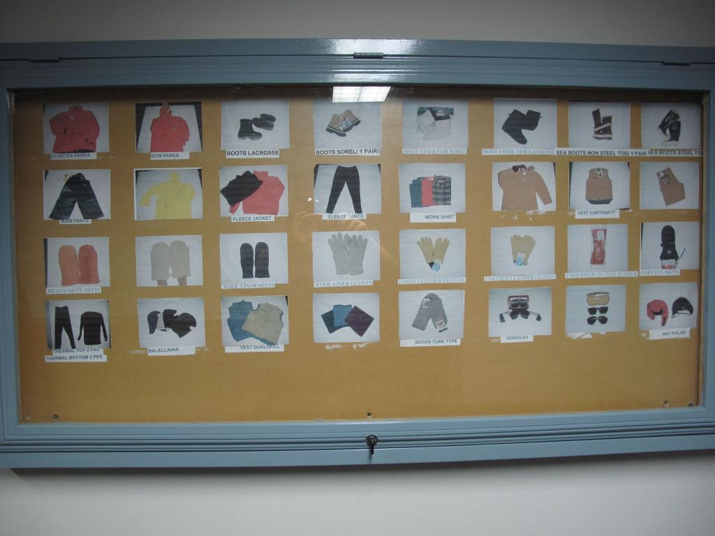 "This display shows the gear required for surviving in Antarctic weather (<a href=""/cryosphere/gallery/photo/33934"">View photo detail.</a>) <br>"