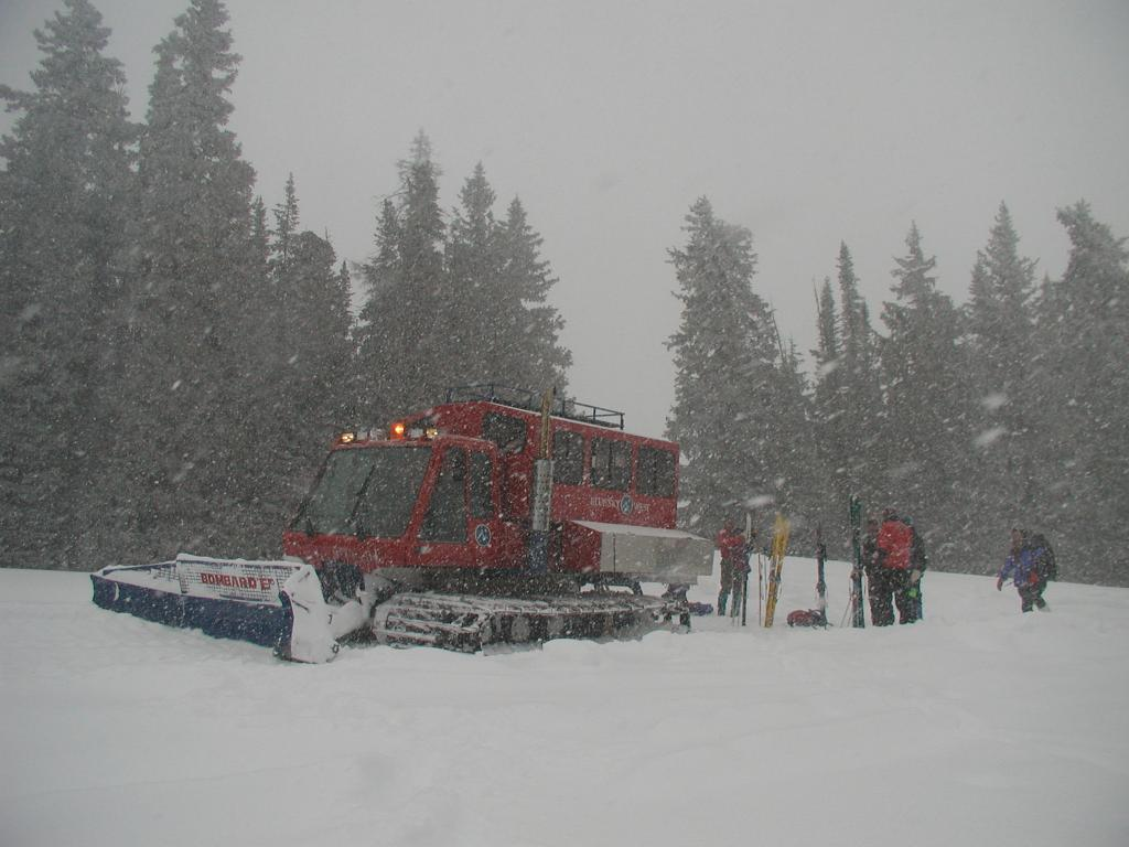 "Scientists preparing to collect CLPX data for the first Intensive Observation Period (IOP1) near Buffalo Pass, Colorado USA on 24 February 2002. For more information on the field experiment, see the <a href=""http://nsidc.org/data/clpx/"">CLPX Exeriment</a> Web site. (<a href=""/cryosphere/gallery/photo/33593"">View photo detail.</a>) <br>"