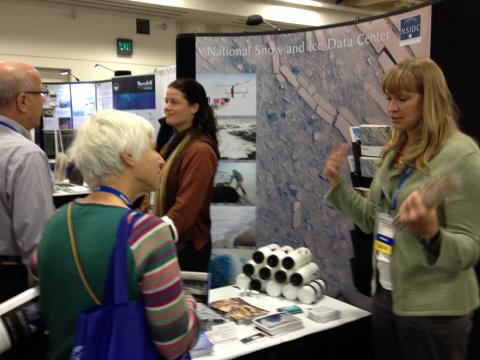 NSIDC staff at AGU