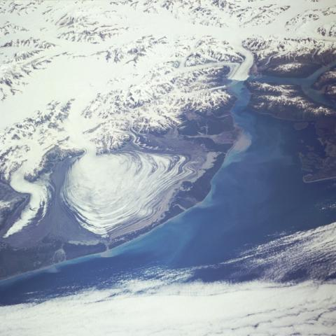 Space Shuttle photograph of Malaspina Glacier, Alaska