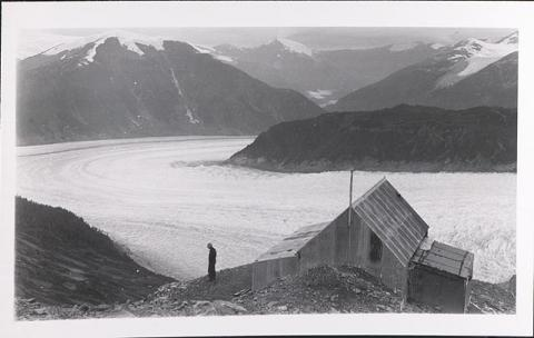 Historic photograph of Chickamin Glacier, 1941