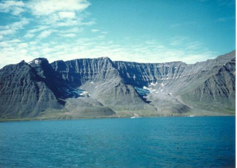 Photograph of two cirques on Disko Island, Greenland