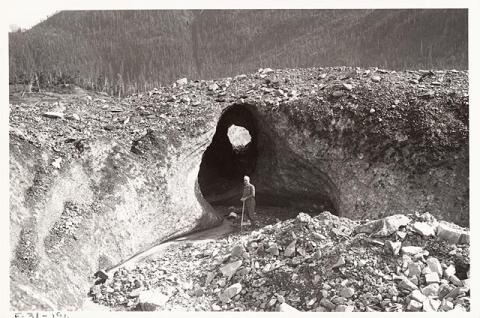 Historic photograph of Columbia Glacier, Alaska, 1931