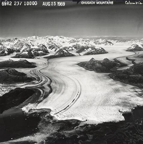 Historic photograph of Columbia Glacier, Alaska, 1969