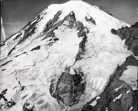 Historic photograph of Cowlitz Glacier, Washington state, 1960