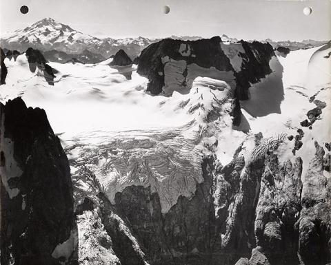 Historic photograph of Dana Glacier, Washington state, 1960