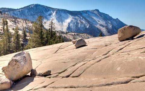 These Glacial Erratics Were Left Behind On The Fractured Bedrock At  Olmstead Point In Yosemite National Park. U2014Credit: Roger H. Goun