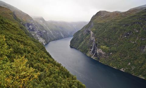 Photograph of Geirangerfjord in Norway