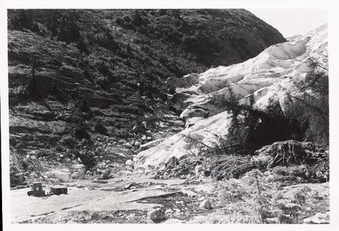 Historic photograph of Hole-in-the-Wall Glacier, Alaska, 1941
