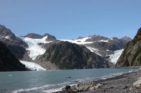 Photograph of the Holgate and Little Holgate Glaciers, Alaska, 2004