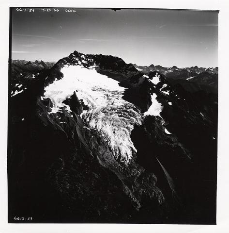 Historic photograph of Jack Glacier, Washington state, 1966