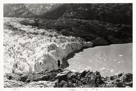 Historic photograph of Lamplugh Glacier, Alaska, 1941