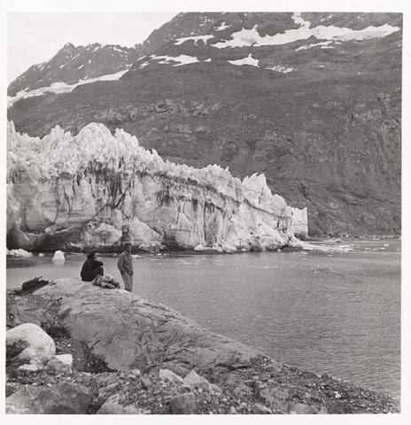Historic photograph of Lamplugh Glacier, Alaska, 1950
