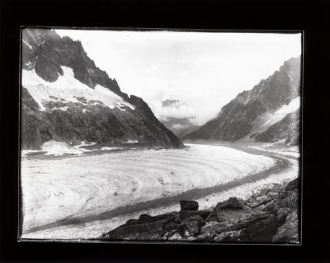 Historic photograph of Mer De Glace Glacier, France, 1902