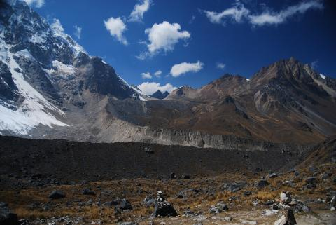 Photograph of a moraine