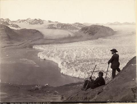 Historic photograph of Muir Glacier, Alaska, 1893