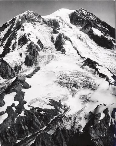 Historic photograph of Payallup Glacier, Washington state, 1960