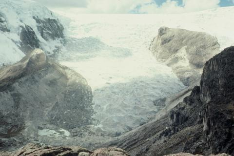 Photograph of the Qori Kalis Glacier, Peru, 1978