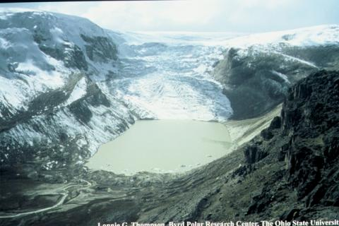 Photograph of the Qori Kalis Glacier, Peru, 2004
