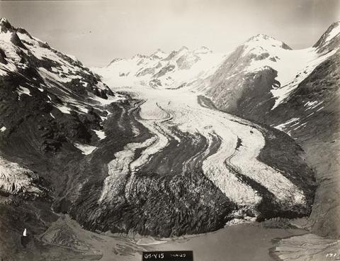 Historical photograph of Rendu Glacier, Alaska, 1929