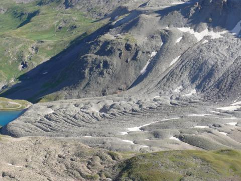 Photograph of a rock glacier on Gilpin Peak, Colorado