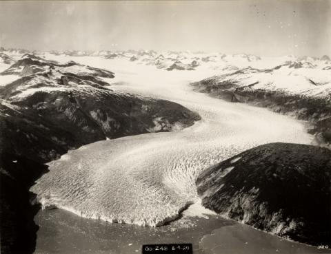 Historic photograph of Taku Glacier, Alaska, 1929
